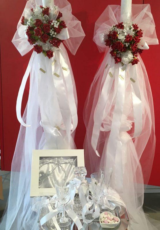 Hochzeitskerze zur grieichisch oder roumänisch orthodoxe Hochzeit!