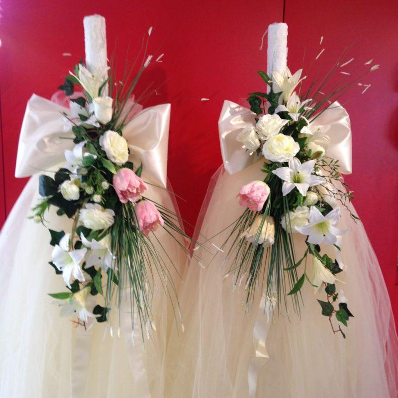 Zur Hochzeit bestellen Sie diese wunderschöne Hochzeits Kerzen! Ein Hingucker!