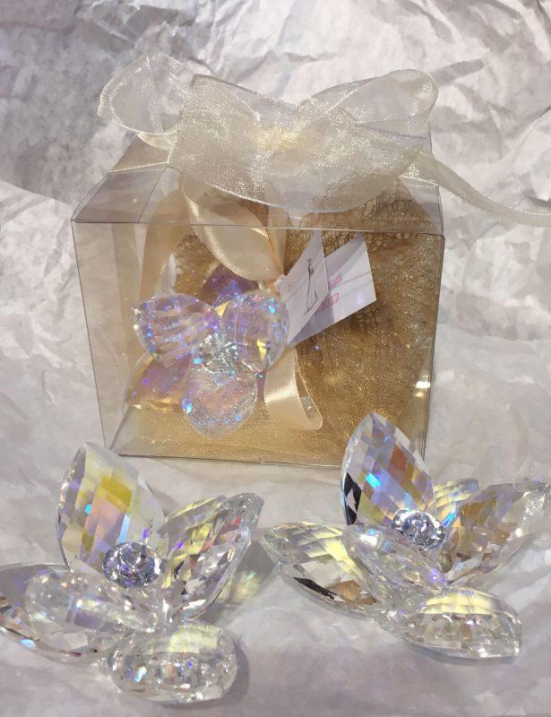 Gastgeschenk zur Hochzeit mit Krystall Seerose