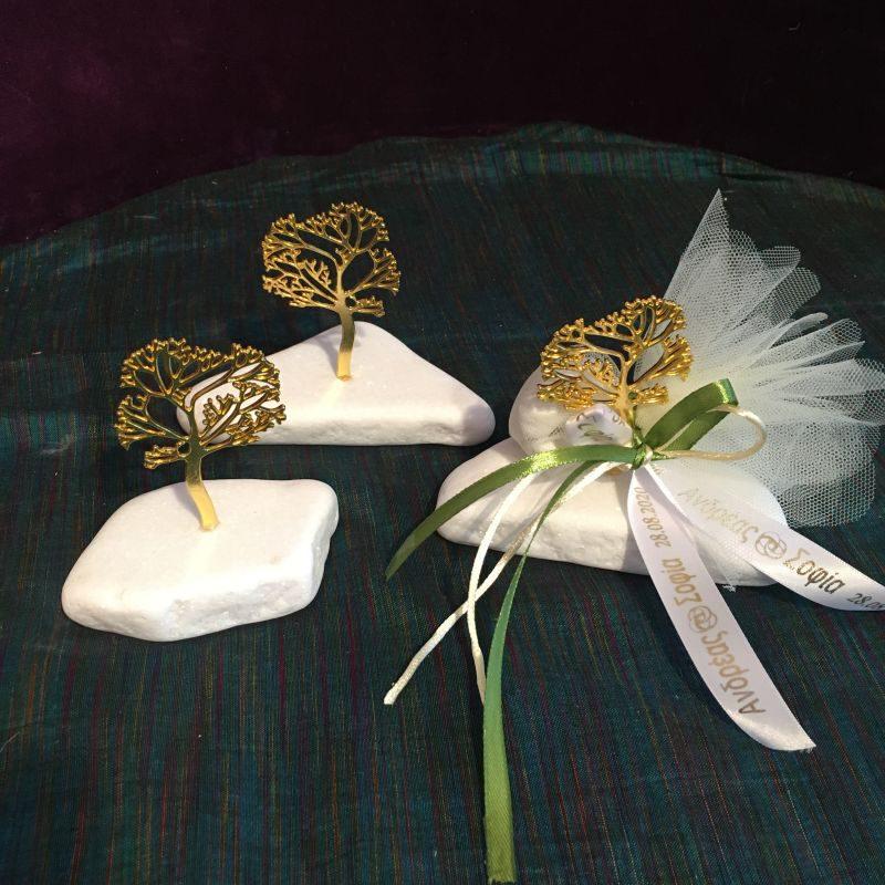 Personalisierte Bonboniere zur Hochzeit mit Lebensbaum