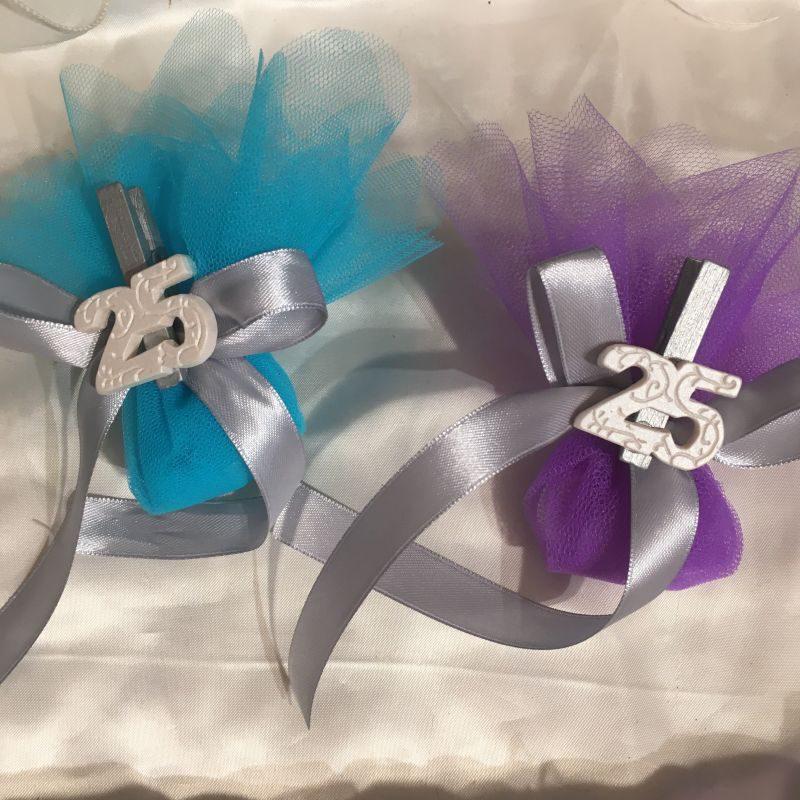 Gastgeschenk zur silberne Hochzeit
