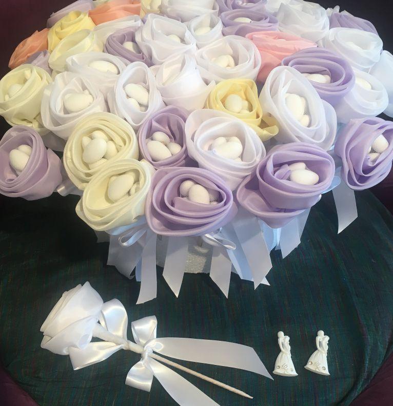 Bonboniere Blumen zur Hochzeit