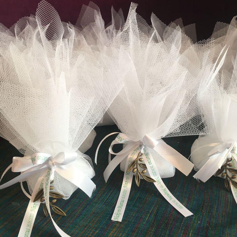 Bonboniere mit personalisierte Bänder ... Sie geben uns den Text !