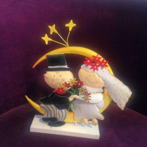 Lustige und fröhliche Tortendeko mit einem Hochzeitspaar die gerne tanzt! Ein Hingucker für die Hochzeitstorte !