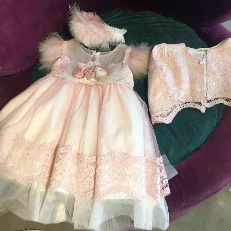 Exklusive elegante Baby Bekleidung zur Taufe