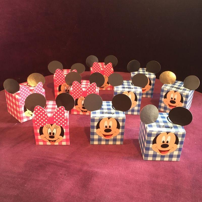 Bonboniere Gastgeschenke mit Mickey Mini Maus