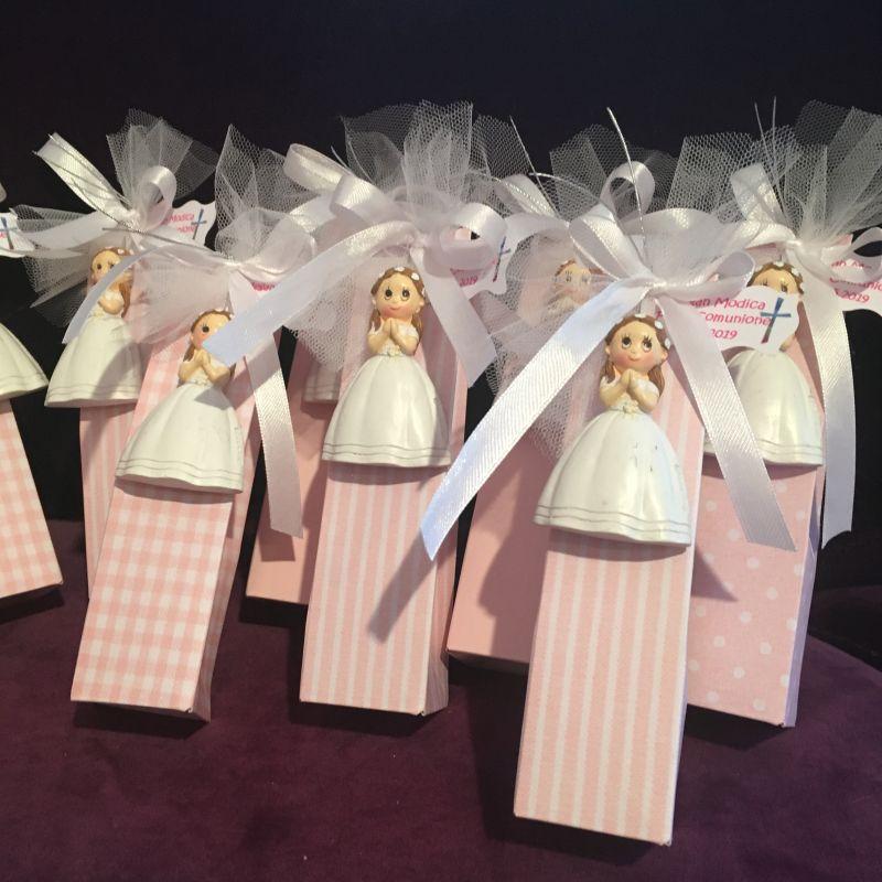 Bonboniere mit Magnet Mädchen zur Kommunion