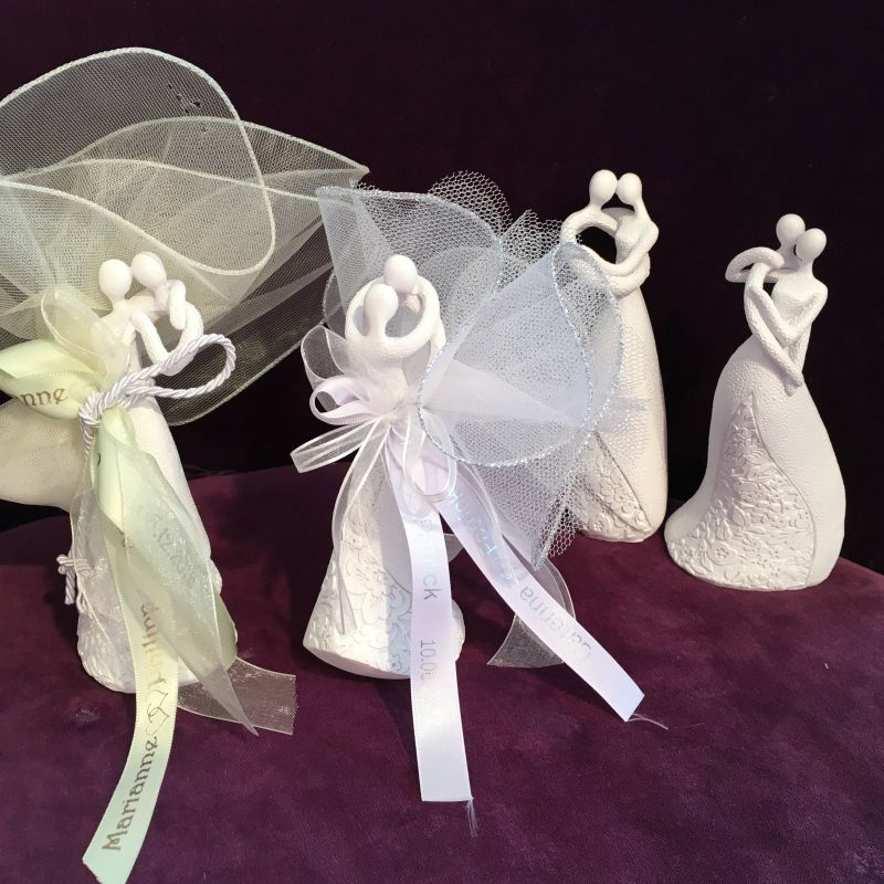 Gastgeschenk zur Hochzeit mit Brautpaarfiguren