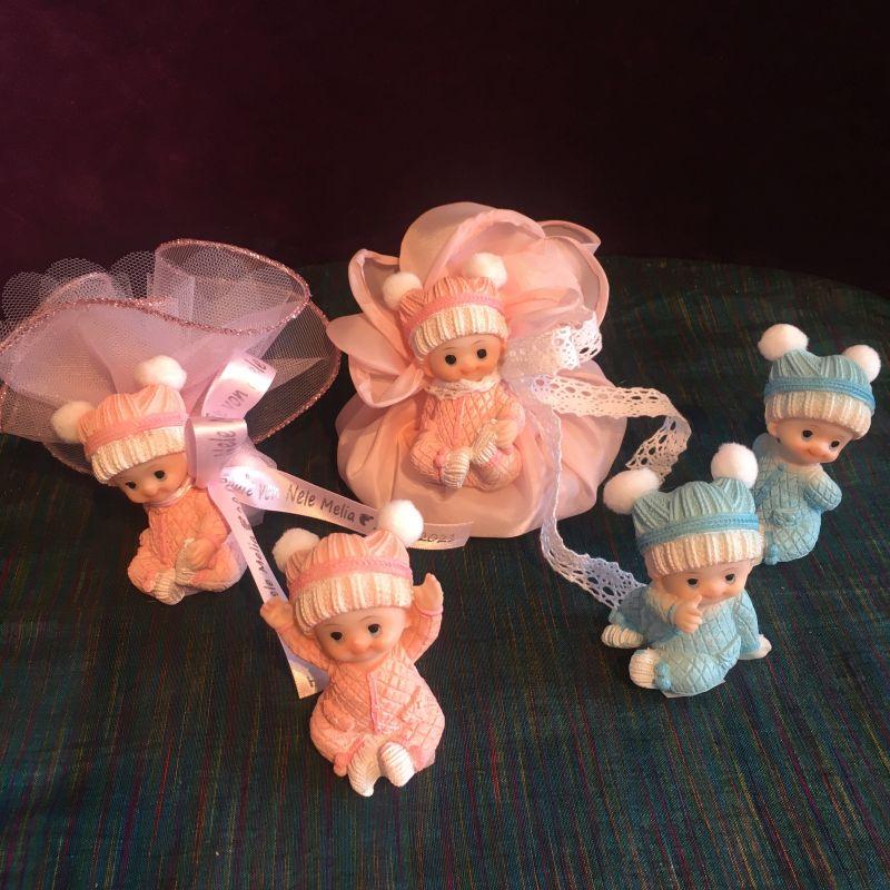 Bonboniere zur Taufe mit Babyfiguren