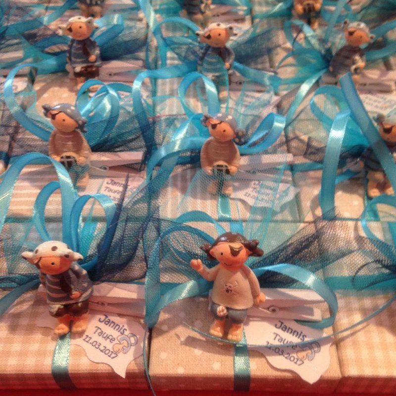 bonboniere und Tischdeko zur Taufe
