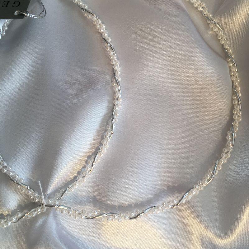 Kranzset mit Perlen