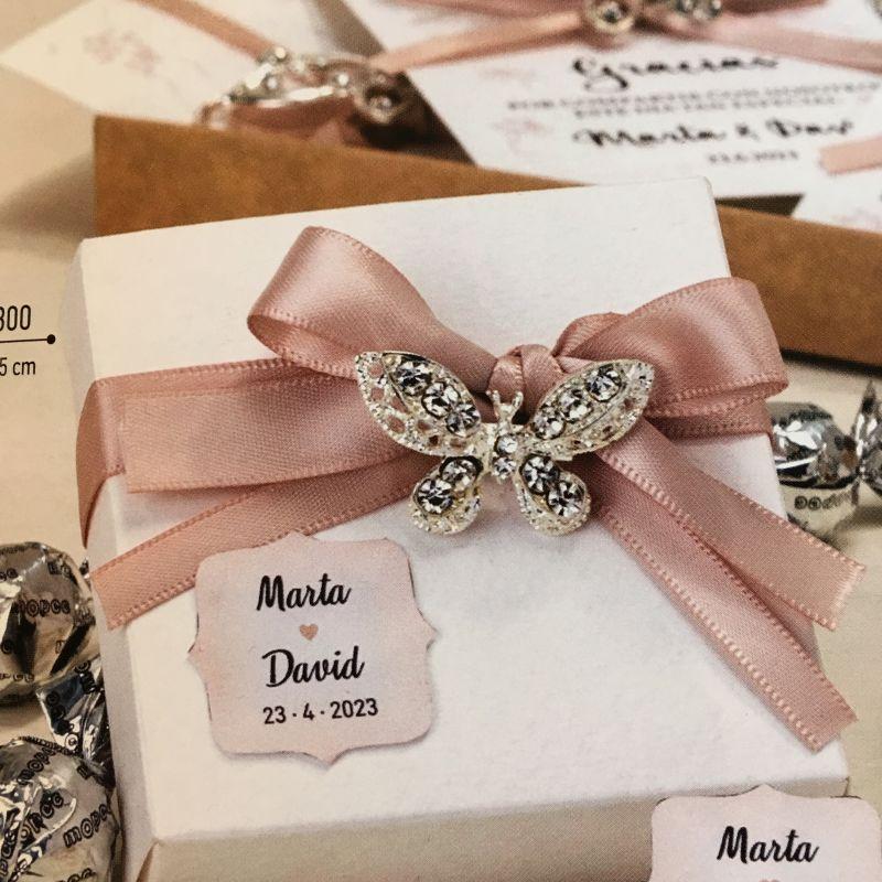 Bonboniere für Ihre Gäste zur Hochzeit mit Schmetterling!