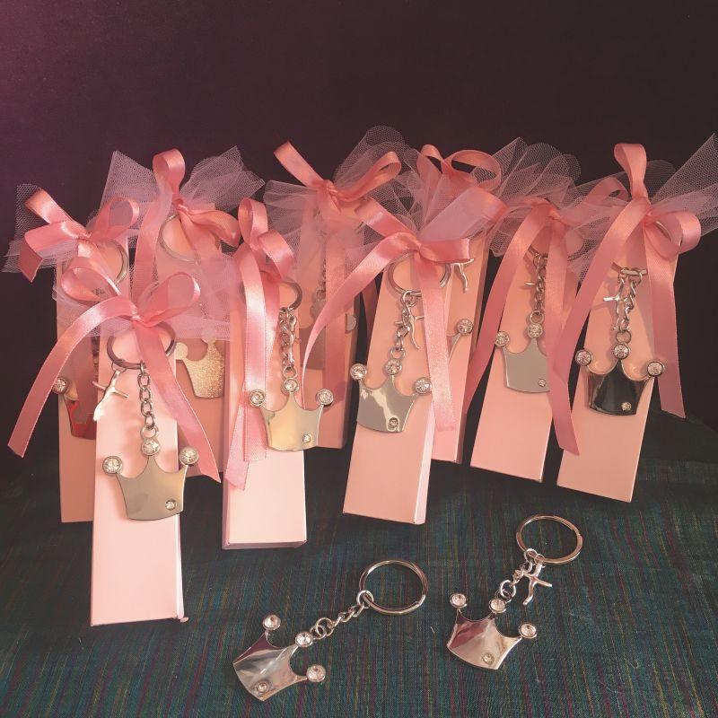Bonboniere mit Schlüsselanhänger mit Krone