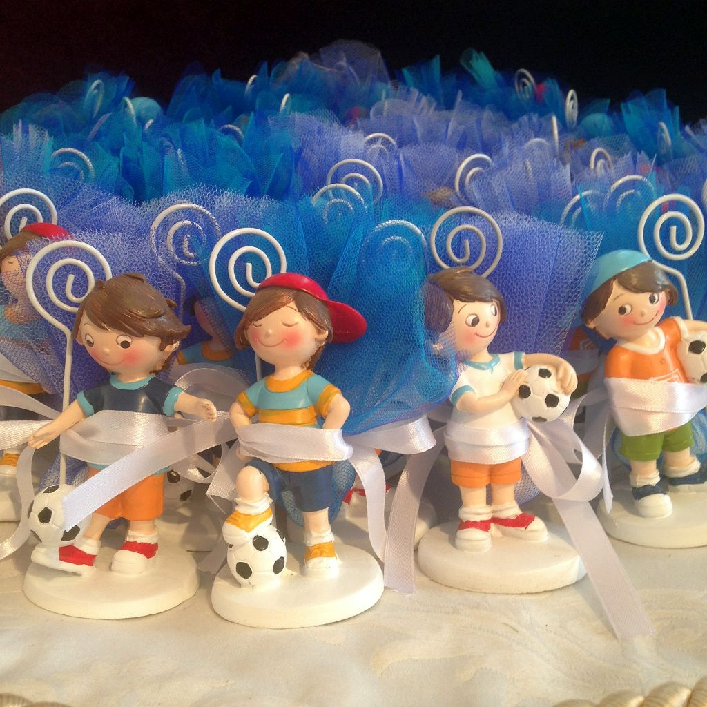 Bonboniere  zur Kommunion mit Fussballer