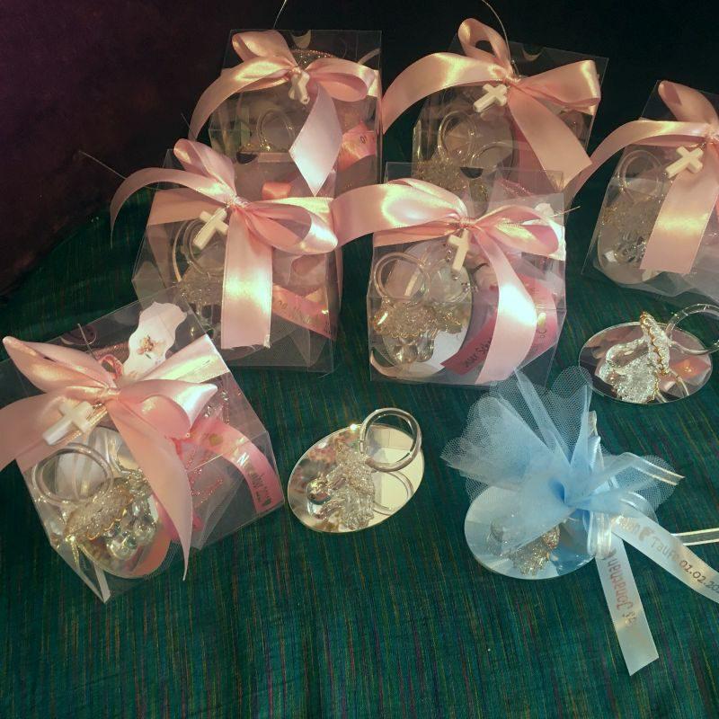 Bonboniere mit Schnuller aus Glas