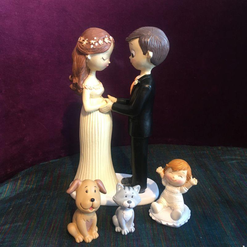 Brautpaar mit Schwanger Braut