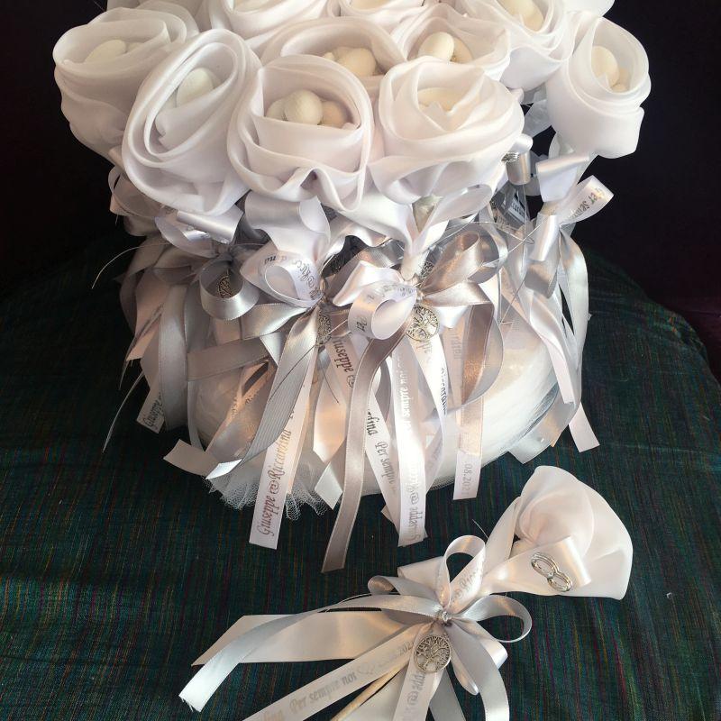 Jubiläumsbonboniere, Silberne Hochzeit Bonboniere