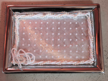 Ausstattung für die Trauung - Tablett für die Ringe