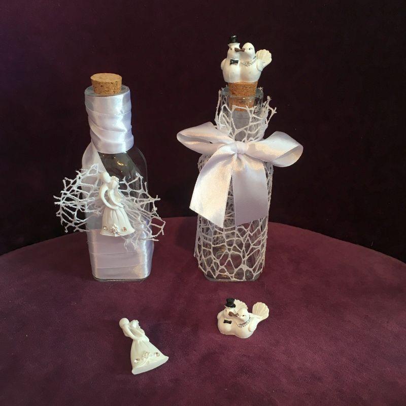 Flasche als Gastgeschenk zur Hochzeit!