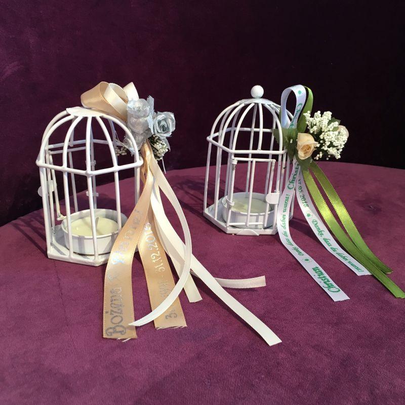 Personalisierte Bonboniere mit Teelicht zur Hochzeit Taufe Kommunion