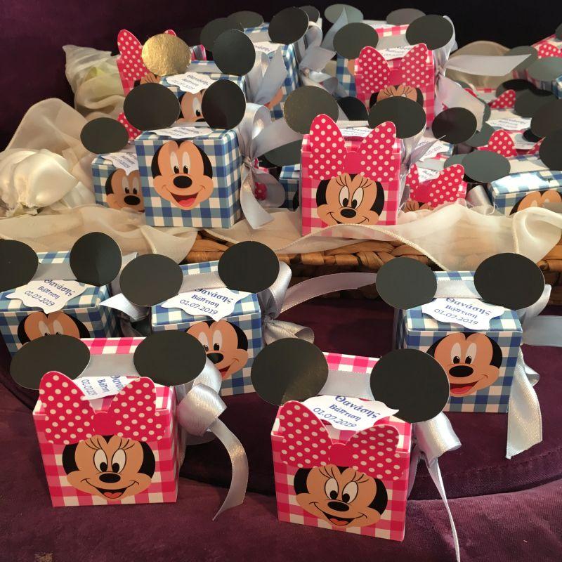 Bonboniere zur Taufe Babyshower mit Mickey/MiniMaus
