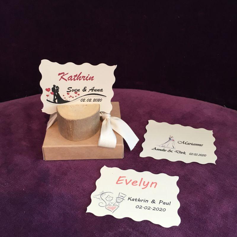 Gastgeschenk/Tischkarte/Tischdeko zur Hochzeit, Jubiläen, Geburtstage!