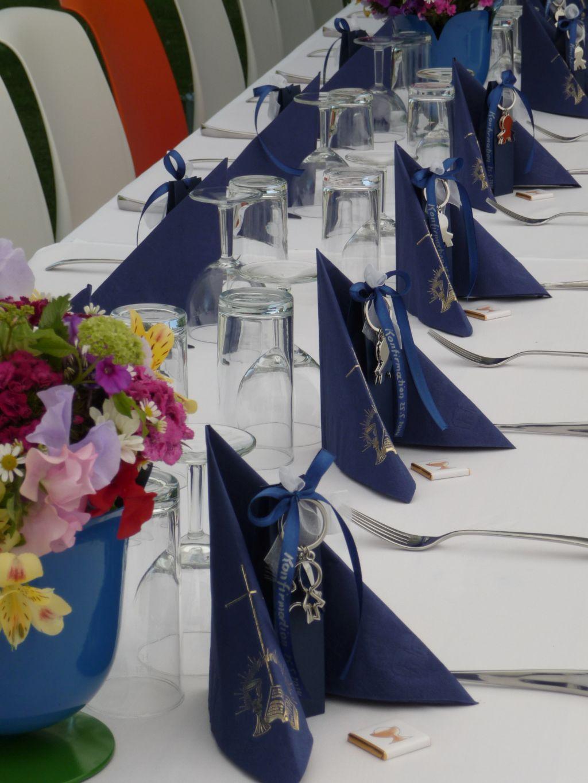 Tischdeko Mit Gastgeschenke Zur Kommunion Konfirmation Firmung