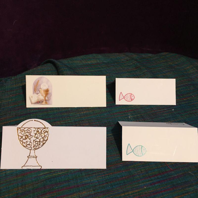 Tischkarten zur Kommunion, Firmung oder Konfirmation