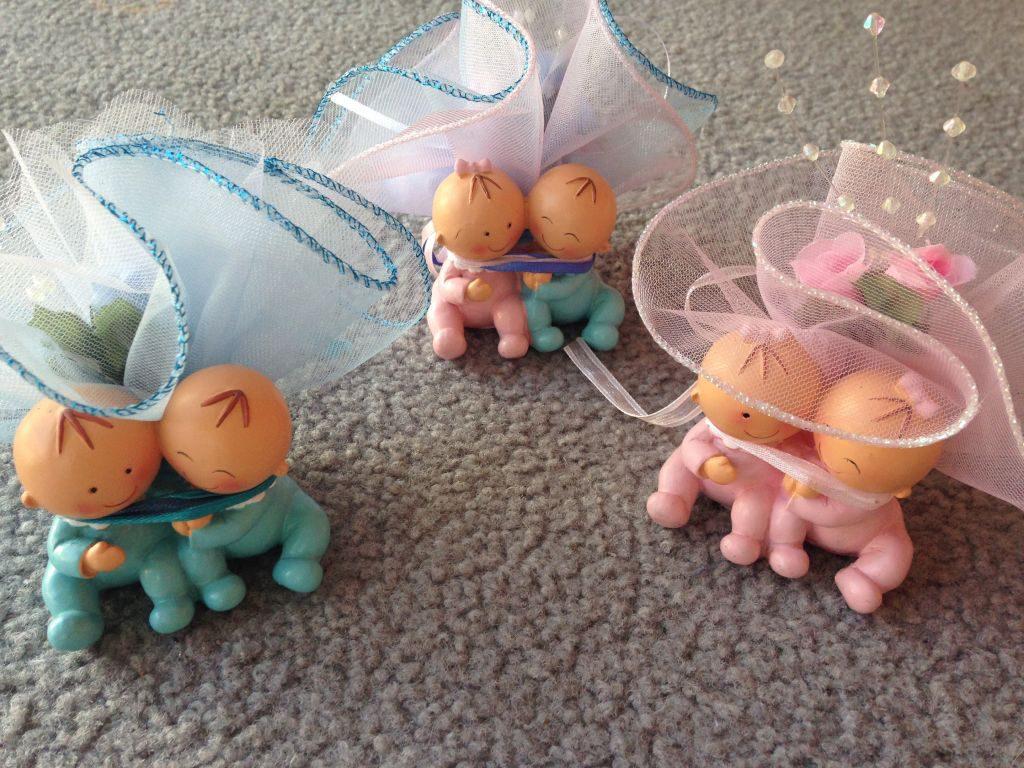 Gastgeschenk zur Taufe für Zwillinge Babys
